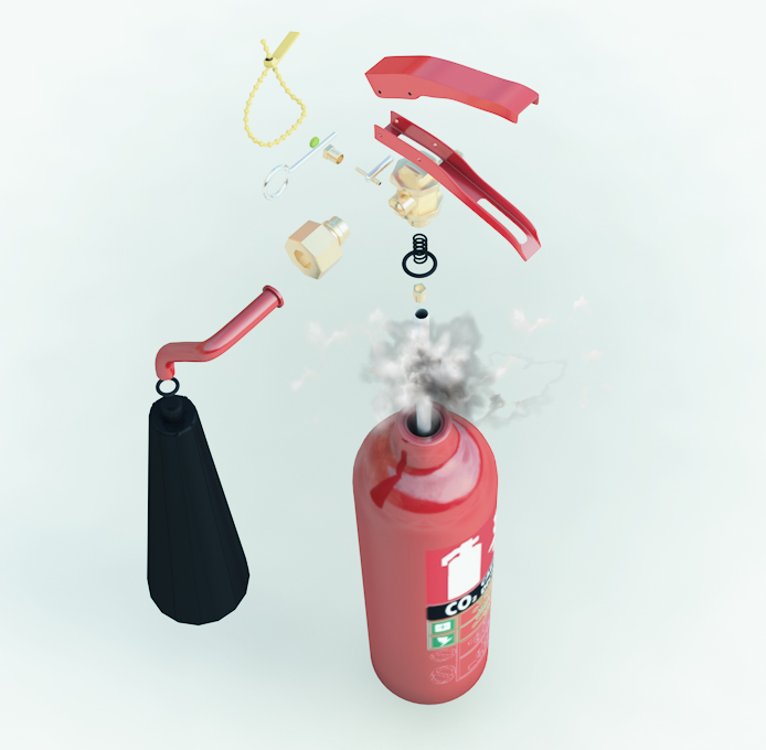 Fire Extinguisher Exploded View